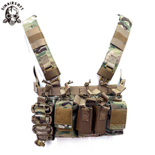 D3 Tactical Vest Chest Rig Pack Pouch Combat Paintball Multi-pocket  Lightweight Nylon Outdoor Camping Hiking Accessories