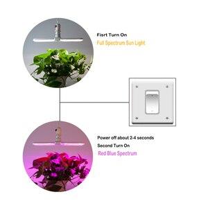 Image 4 - Luz LED Deformable para cultivo, 75W, E27, 2 modos de luz solar de espectro completo y Lámpara de cultivo de plantas de espectro rojo/azul para semillas de plantas