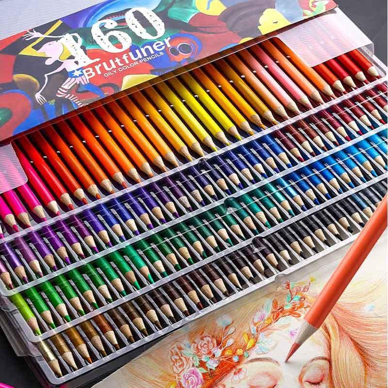 48/72/120/150/160/180 Colors Professional Oil Color Pencils Watercolor Set Artist Painting Sketching School Art Supplies