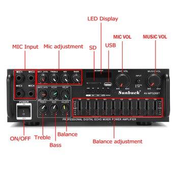 Усилитель мощности SUNBUCK 326BT, 2*60 Вт, Bluetooth 2
