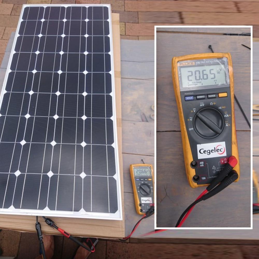 100W Carregador de Bateria Do Painel Solar