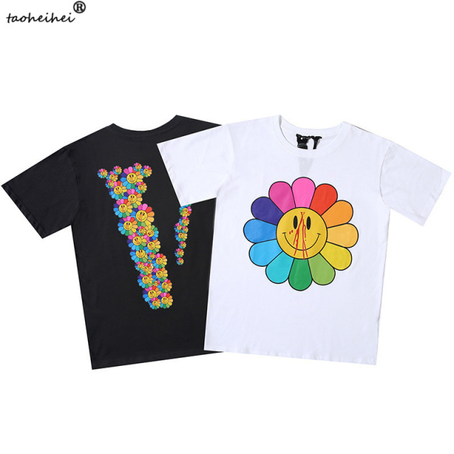 VLONE Sun Flower Smiley Face Shirt 1