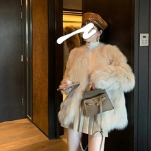 Grass-Coat Fur Fox-Fur Silver Winter Women's New Autumn Haining One Youth