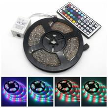 LED Strip Light RGB 3528 SMD Flexible Ribbon fita led light strip RGB 5M Tape Diode DC 12V+ Remote Control +Adapter Bias light 18w 1200lm 635 700nm 300 smd 3528 led red light car flexible decoration strip dc 12v 500cm