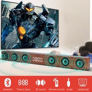 Домашний кинотеатр Саундбар ТВ HDMI беспроводные деревянные Bluetooth колонки с RCA стерео звуковая коробка пульт дистанционного управления Будил...