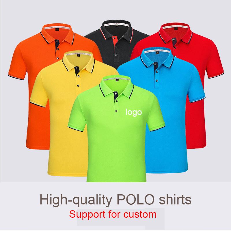 High-quality Embroidery Polo Shirts Men's And Women's Polo Shirts Casual  Overalls With Short Sleeves Can Custom Name Logo