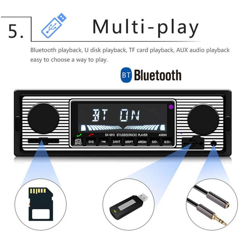 Remote Controls Bluetooth Vintage Car FM Radio MP3 Player USB Classic Stereo Audio Receiver Car Bluetooth player car MP3 player