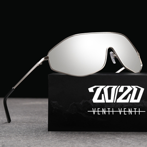 Image 1 - 20/20 New Arrival Vintage Brand Alloy Polarized Sunglasses Men Gradient Oversize Lens For Women Design AK17157