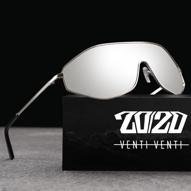 20/20 New Arrival Vintage Brand Alloy Polarized Sunglasses Men Gradient Oversize Lens For Women Design AK17157