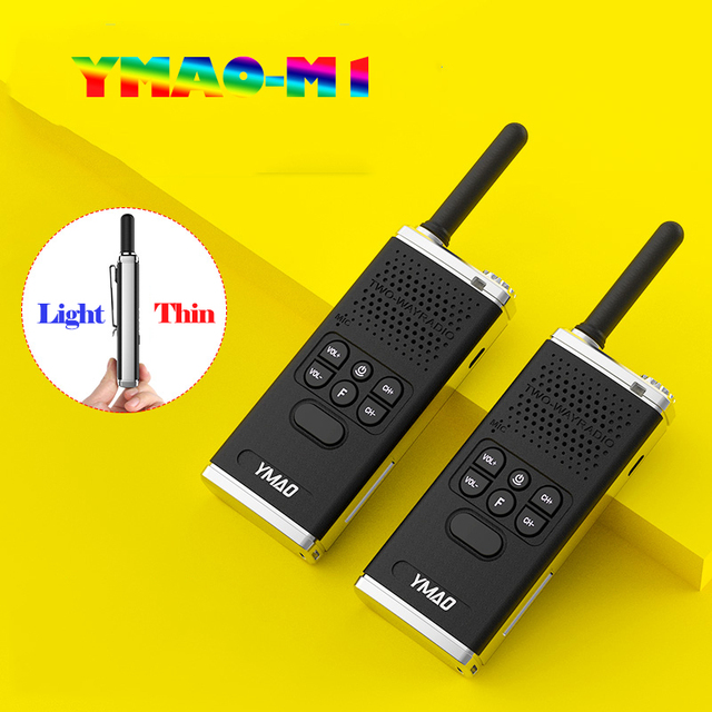 (2 pièces) talkie walkie YMAO uhf PMR446 PRS462 Portable radiocommunicateur puissant talkie walkie lampe de poche émetteur récepteur HF