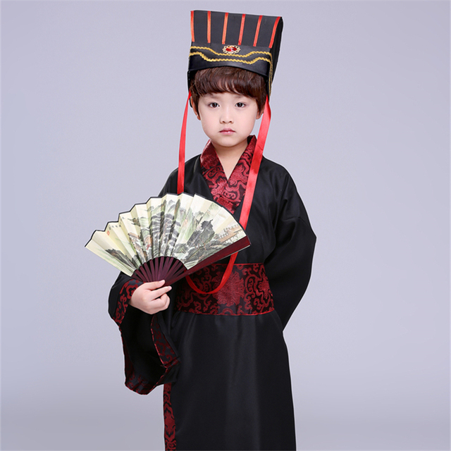 7Color Kids Chinese Ancient Costume Traditional Dynasty Official Stage Performance Party Clothing Folk Dance Hanfu Costumes Set 3