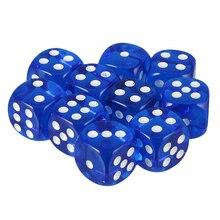 20 stücke D6 Würfel Set Gepunktete Würfel, 16mm Sterben Würfel Blöcke für Rolle Spielen Gaming Zubehör-Blau Rot