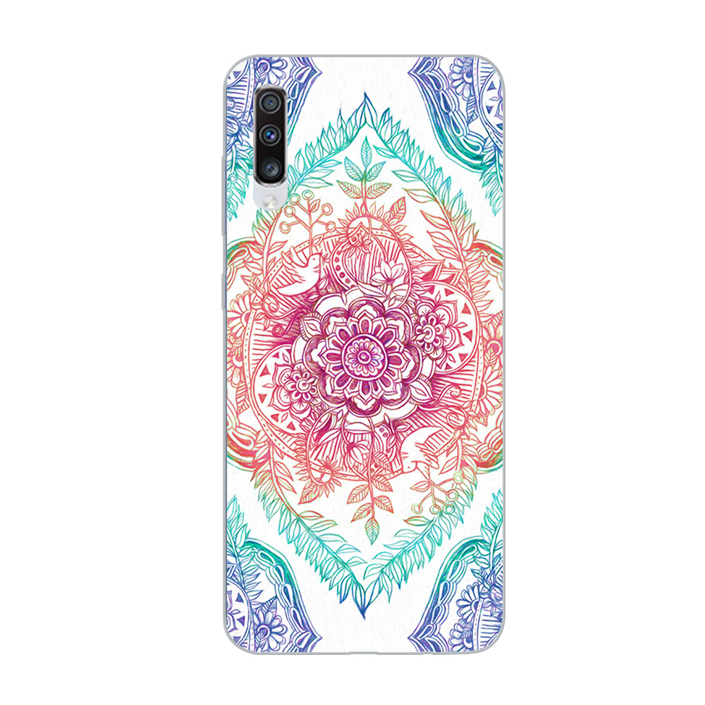 Image 3 - ciciber Phone Case for Samsung Galaxy A50 A70 A80 A40 A30 A20 A60 A10 A20e Soft Silicone Mandala Flower Pattern Cover Funda Capa-in Fitted Cases from Cellphones & Telecommunications
