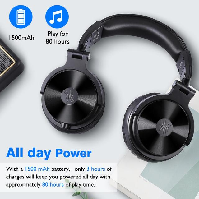 Oneodio Over Ear Bluetooth Headphones Stereo Headset Bluetooth 5.0 With CVC8.0 Mic 5
