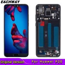 Original für Huawei P20 LCD Display EML-AL00 Touchscreen Digitizer Montage Mit Rahmen Ersatz 5.8