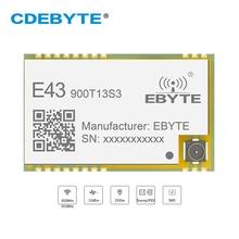 E43 900T13S3 UART 868 MHz 915 MHz 20mW IPX หลุมแสตมป์เสาอากาศ IOT UHF ไร้สาย SMD เครื่องรับส่งสัญญาณและตัวรับสัญญาณโมดูล RF