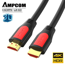 AMPCOM HDMI Cable to 2.0 Ultra HD 4K-60Hz 3D 1080P HDR 4:4:4 ARC Ethernet Cord Compatible with 2.0a 2.0b,