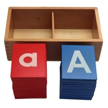 Wooden Sandpaper Letter Card with Wooden Boxes Toys Children Educational Early Education Toys