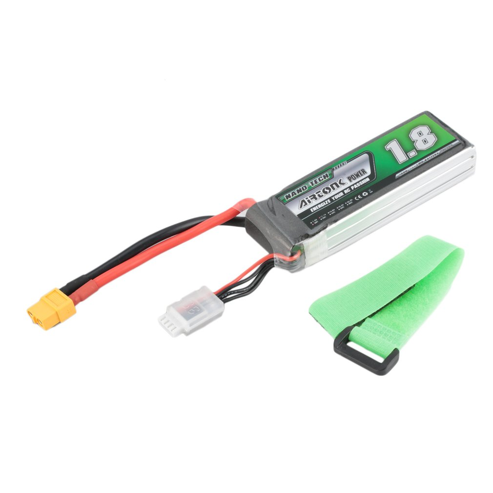 Airtonk Power 11.1V <font><b>1800mAh</b></font> 30C <font><b>3s</b></font> 1P <font><b>Lipo</b></font> Battery XT60 Plug Rechargeable for RC Racing Drone Quadcopter Helicopter Car Boat image