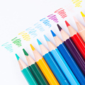 Deli Lapis De Cor Толкаемый цветной карандаш Lapices De Color es Profesionales Dibujo водорастворимый цветной ed карандаш сменный сердечник