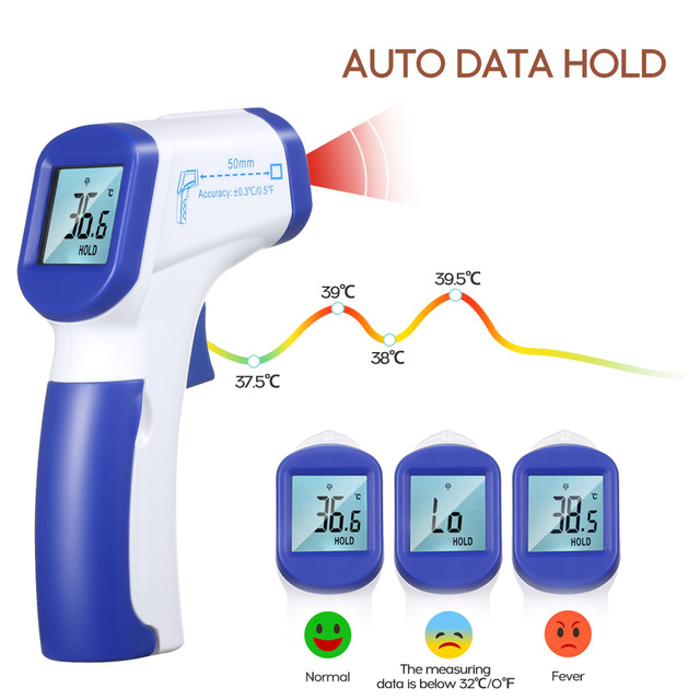 Infrared thermometer Digital thermometer Non-contact laser IR