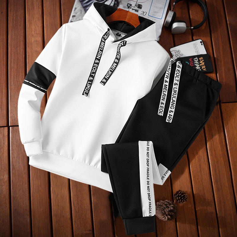 New Style Men's Sportswear Spring And Autumn Casual Hoodie Set Teenager Long-sleeve Suit Trend Versatile