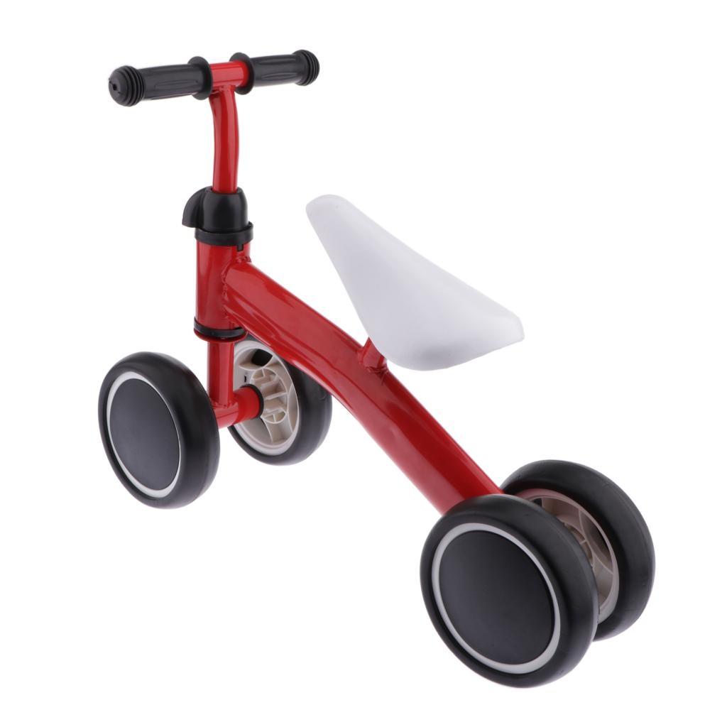 Baby Balance Bike Kids Toddler Walker Boy Girl 4 Wheels Push Bicycle