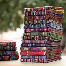 Housse de canapé rembourrée, tissu ethnique, rideau de nappe, tissu décoratif en coton et lin, à faire soi-même, 100CM x 150CM/pièce