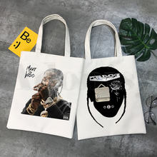 Поп дым хип хоп meet the woo графические сумки для покупок с
