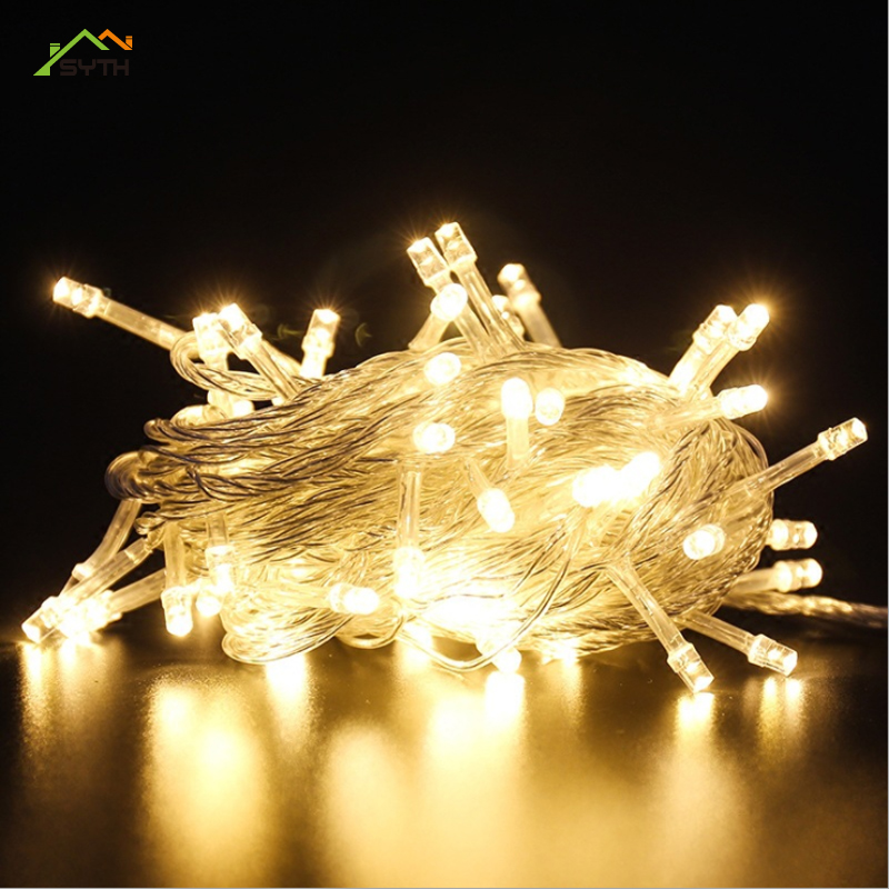 LED String Lights Colorful Lights Starry New Year Decoration Christmas Day Outdoor Waterproofing Project Luces De Navidad