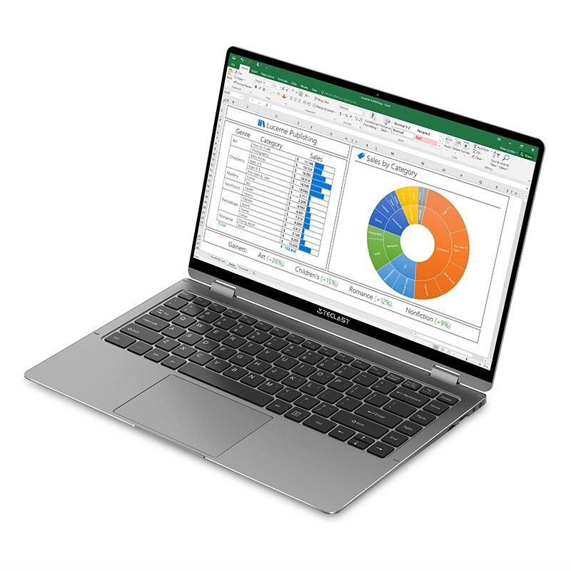 "Teclast F6 plus 13.3"" 10-point Touch Laptop 8GB LPDDR4 256GB SSD Windows 10 Notebook Intel Gemini Lake 360° Rotation Computer-3"