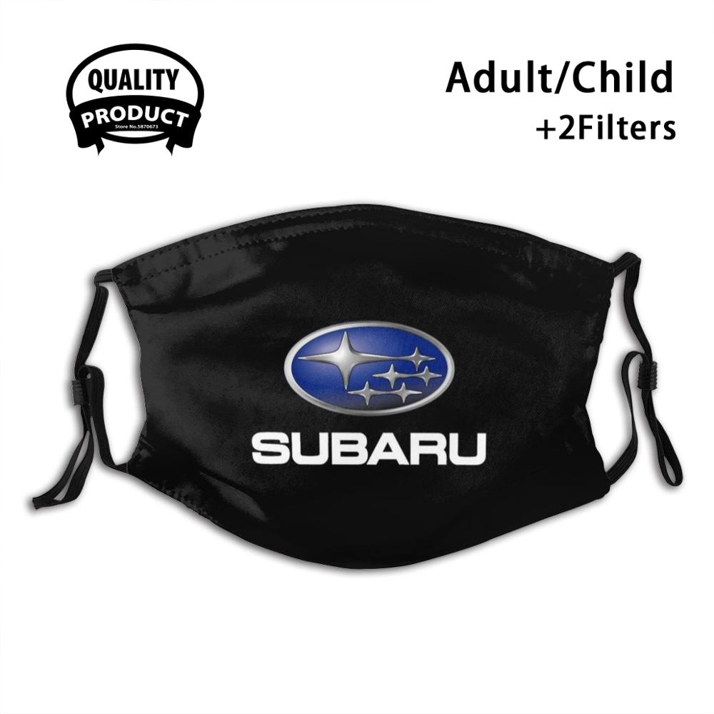 Hot Sale - Subaru Logo Black Text White Diy Adult Kids Face Mask