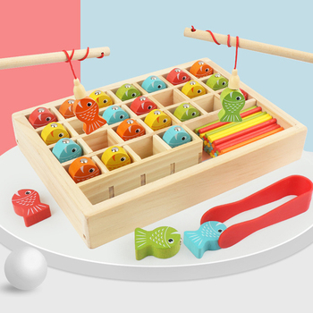 Montessori Educational Wooden Toys Kids Toys Count Magnetic Fishing Game Math Toy Early Learning Educational Toy For Children set montessori educational baby early evelopment scale funny balance game wooden toy children math toy gift