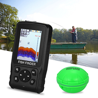 Drahtlose Echo Echolot Fisch Finder XF 11 Für Angeln Wasserdichte LCD Li batterie Aufladen Attraktive Lampe Sonar Sensor 2 8 zoll-in Fischfinder aus Sport und Unterhaltung bei