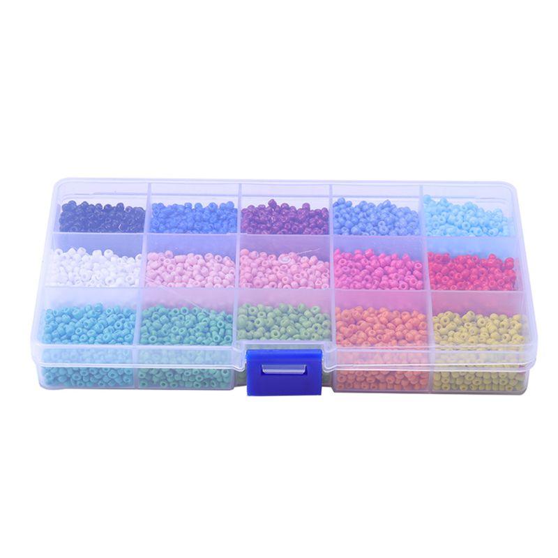 Perles de riz en verre 3mm perles en vrac multicolores adaptées au bricolage de mode