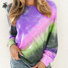 Long Sleeve T shirt Women Rainbow Tops for Women Fall 2020 Women Plus Size Clothing Tshirt Femme T-shirts Casual Woman Tshirts