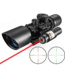 M9 3-10x42eg optyka taktyczna celownik optyczny Picatinny Weaver Montar Vermelho Verde Ponto Caça Escopos Com Laser Vermelh