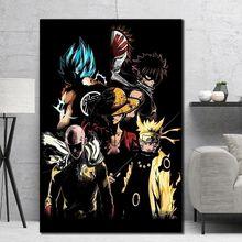 Плакат с японским аниме персонажем из мультфильма холщовая картина