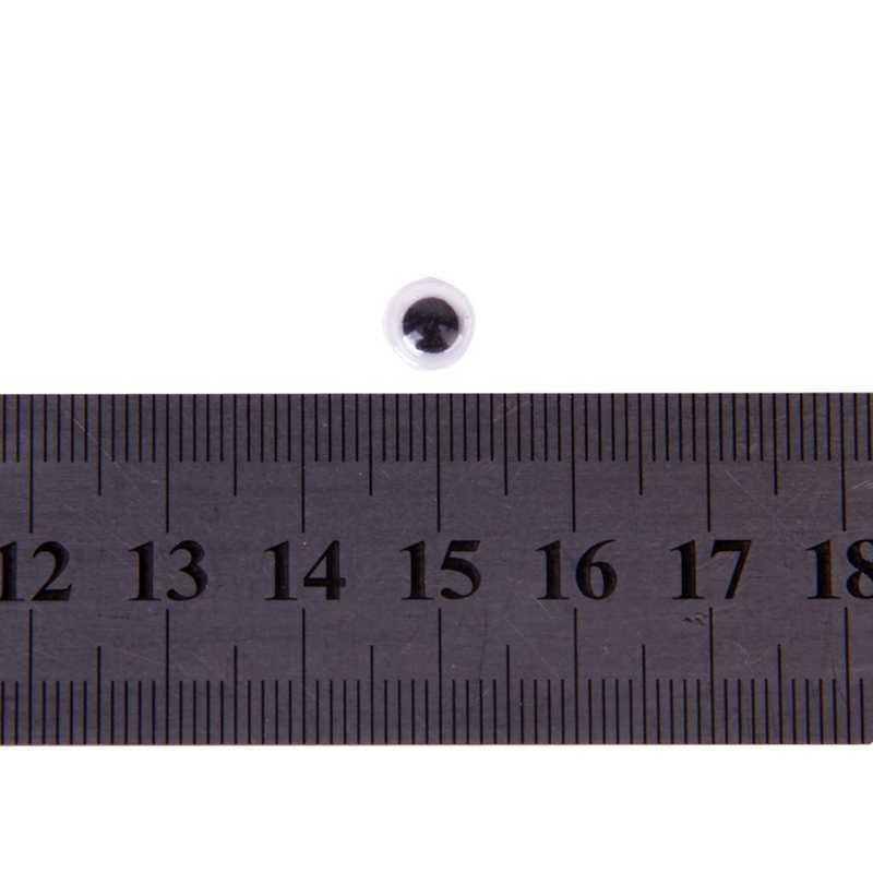 100Pcsรอบค่าเฉลี่ยMovable Wiggly Wiggleตาหัตถกรรมกาวสติกเกอร์ 10 มม.