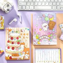 252 sztuk/zestaw kawaii ciasto kot notatnik Cute Bear rabbit wiadomość notatki dekoracyjne notatnik karteczki do notowania Memo papiernicze artykuły biurowe
