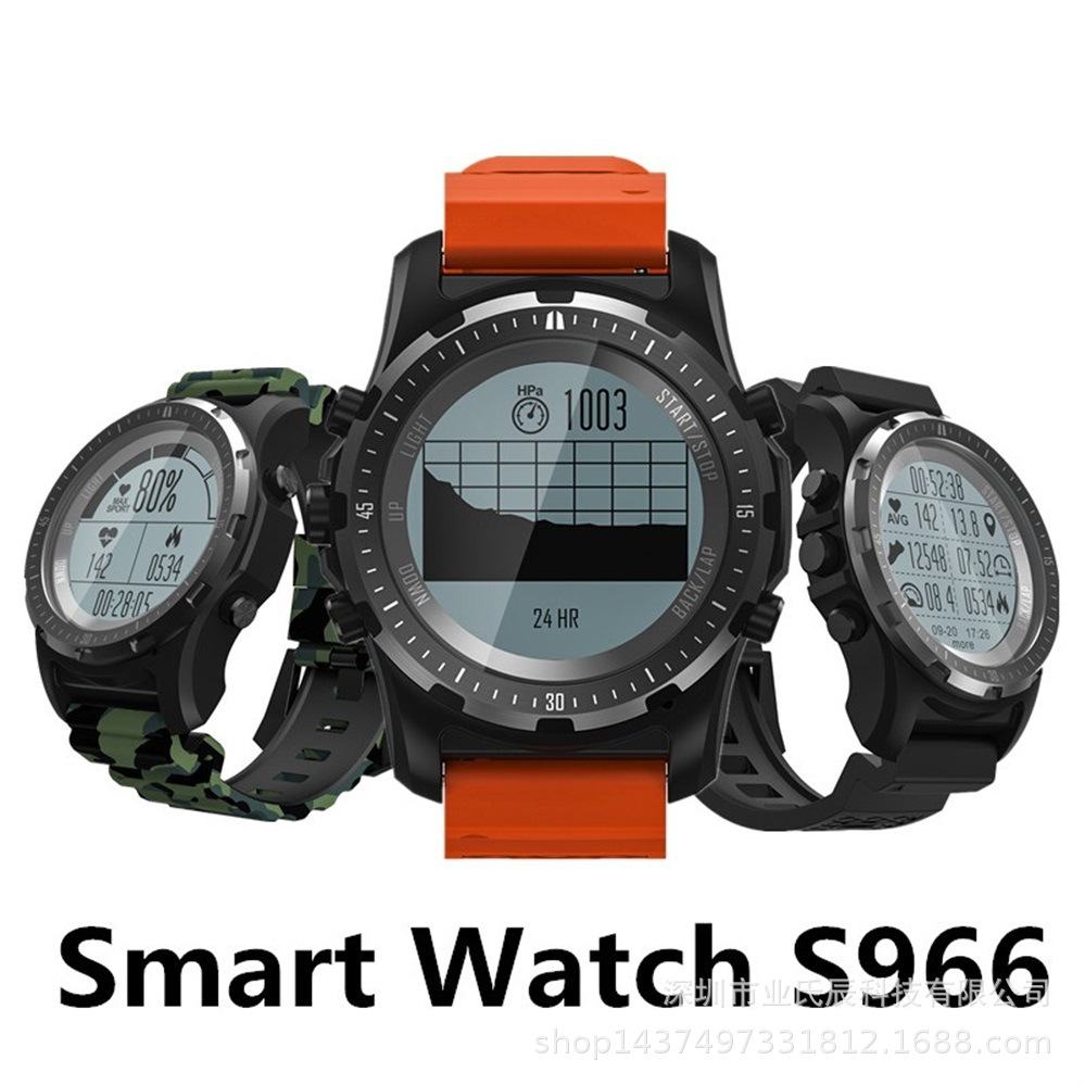 Smart Watch S966 GPS Waterproof Bluetooth Compass Fitness Tracker Monitor Smartwatch For Android Phone ios smart watch