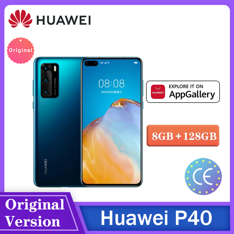 Huawei Smartphone P40 Android10 5G Supercharge Kirin 990 8Gb 128Gb 50MP Camera Nfc Snelle Schip Telefono الهاتف الخلو