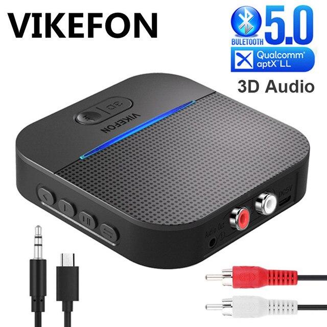 20H Spielen 50M Lange Klingelte Bluetooth 5,0 RCA Empfänger Mit 3D Surround aptX LL 3,5mm Jack Aux wireless Adapter Auto Audio Sender