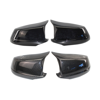2 Pair Mirror Covers for Bmw 5 Series F10/F11/F18 Pre-Lci 11-13 Mirror Caps Stickers Covers, Black & Carbon Fiber