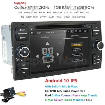 AutoRadio 2din Android Car Multimedia Player DVD GPS Fit Ford Focus C-Max Connect Fiesta Kuga Transit S-Max Galaxy Fusion Mondeo image