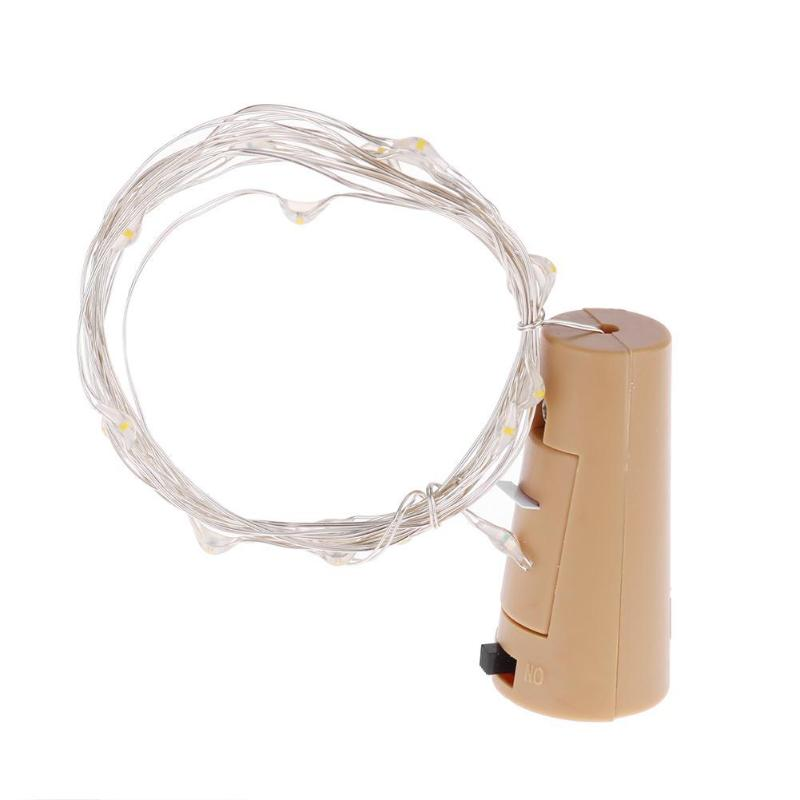 1m/2m LED Wine Bottle Fairy String Light Cork Shaped Copper And Plastic Ropes Multicolor For Christmas Holiday Decor