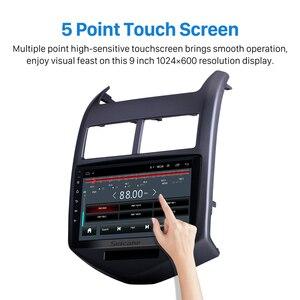 """Image 2 - Seicane Android 9.1 9 """"Auto Gps Multimedia Speler Voor 2010 2011 2012 2013 Chevy Chevrolet Aveo Navigatie Stereo Ondersteuning dvr Swc"""
