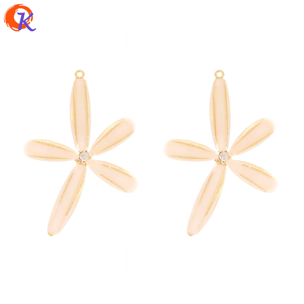 Cordial Design 50Pcs 33*47MM Jewelry Accessories/Earring Findings/Charms/Flower Shape/Hand Made/DIY Making/Earrings Connectors
