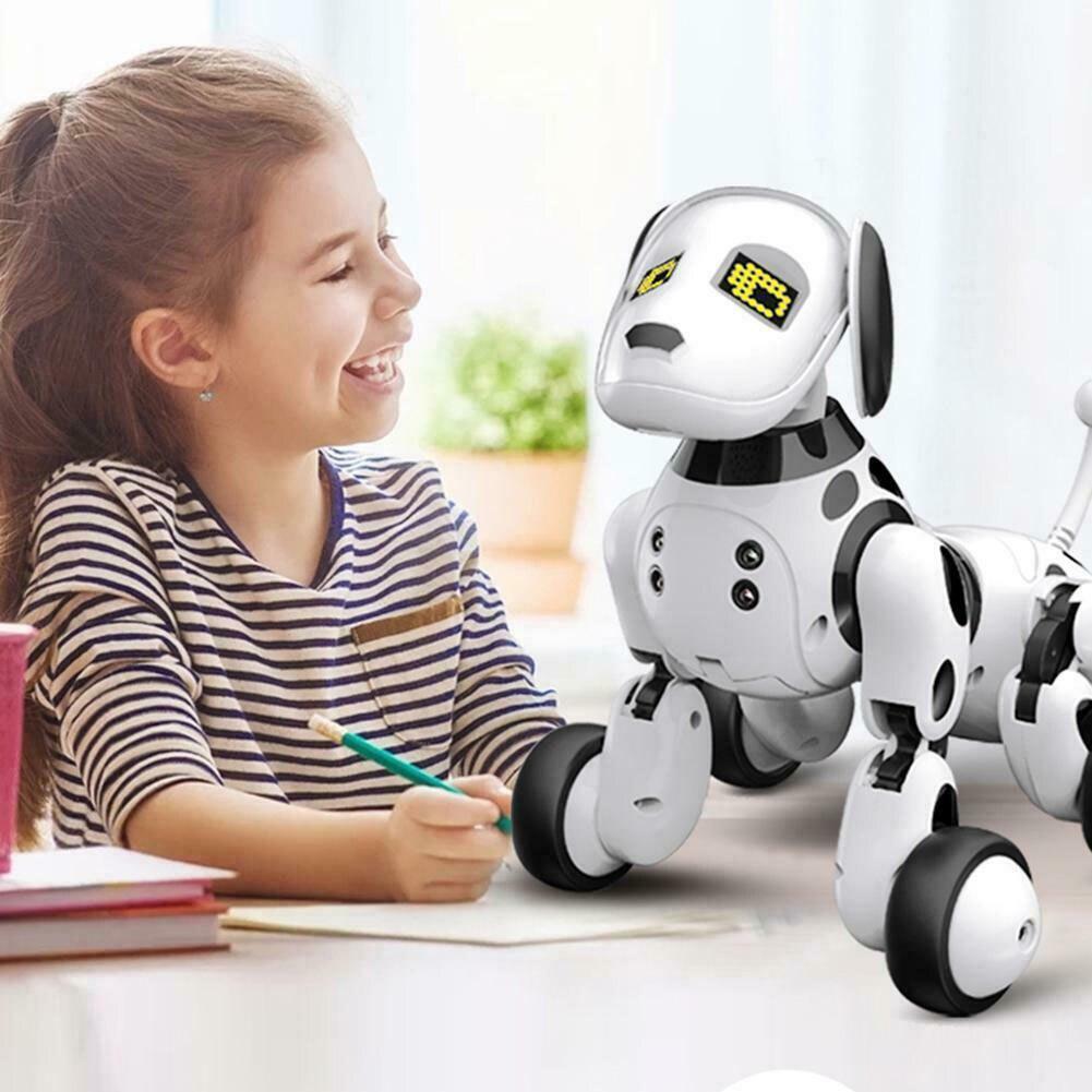 Led Интеллектуальный беспроводной RC робот собака умная электронная игрушка питомец образовательная Интерактивная подарок на день рождения ... - 2
