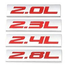 2,0 л, 2,3 л, 2,4 л, 2,5 л, 2,8 л, фотография, значок, наклейка для Toyota, Mercedes, Mazda, Nissan, BMW, Audi, Honda, Hyundai, Ford, KIA, VW, SUV